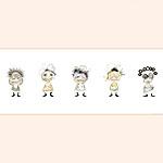 Figuren/ Characters 30 x 60 cm